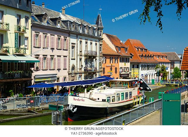 France, Bas Rhin (67), Saverne town, canal from La Marne to Rhine rivers