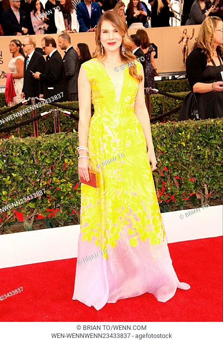 22nd Annual Screen Actors Guild Awards at The Shrine Expo Hall - Arrivals Featuring: Lily Rabe Where: Los Angeles, California