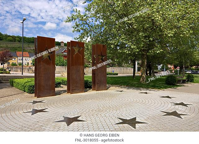 Memorial to the accomplishment of the Schengen Agreement, Schengen, Luxembourg