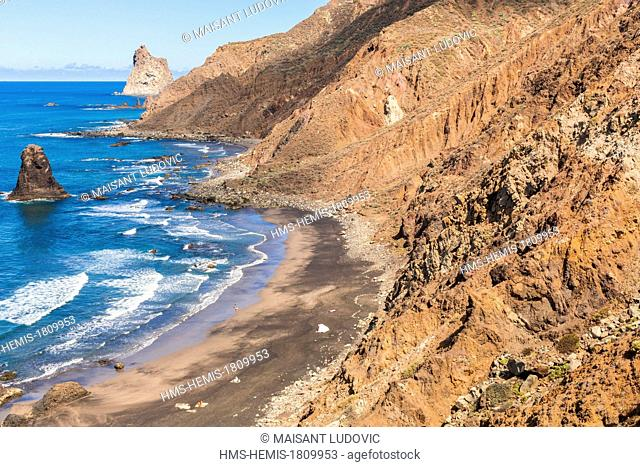 Spain, Canary Islands, Tenerife Island, Anaga Rural Park, playa Benijo