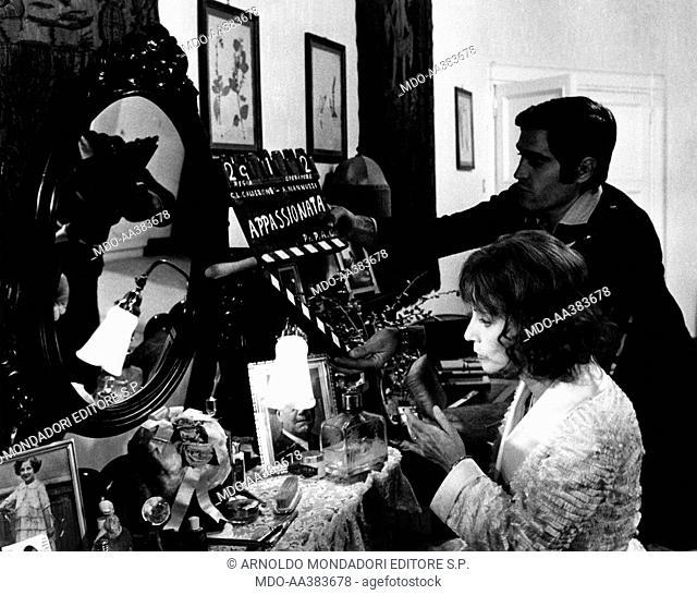 Valentina Cortese in Appassionata. Italian actress Valentina Cortese is going to shoot a scene from the film Appassionata. Rome, 1974