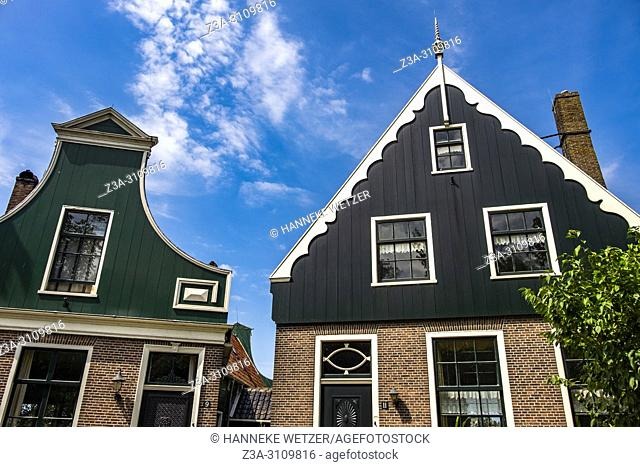 Traditional Dutch houses at the Zaanse Schans, North-Holland, the Netherlands, Europe
