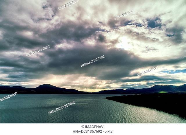 Aerial Photography of Lake Kussharo, Hokkaido, Japan