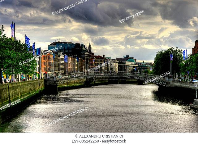 River Liffey in Dublin city, Ireland