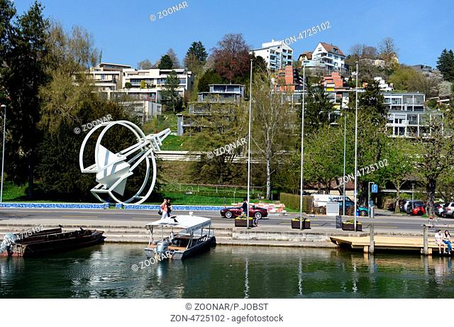 Die Stadt Schaffhausen liegt am so genannten Hochrhein in der Schweiz. Das Bild zeigt das Kernstück von Rene Moser / Schaffhausen is situated at the so called...