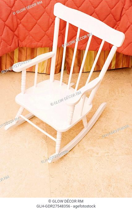 Rocking chair in the bedroom