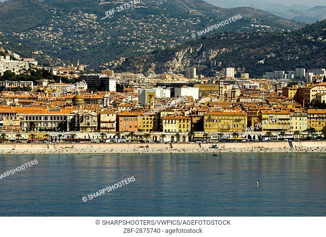 Nice, View from Helicopter, Cote d'Azur, France