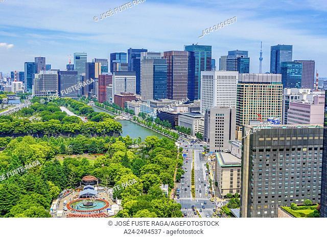 Japan , Tokyo City, Marunouchi District Skyline