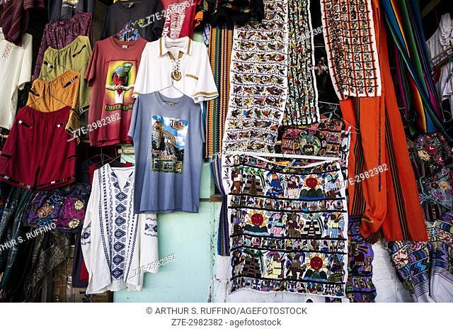 Guatemalan crafts stall, Guatemala, Central America