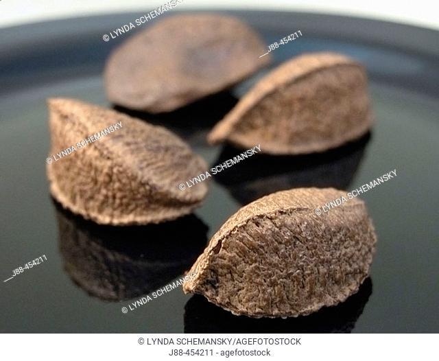 Brazil nuts on plate