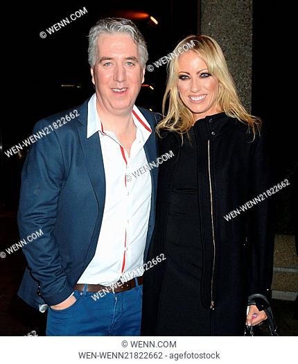 Celebrities arrive at RTÉ Television Centre for The Saturday Night Show Featuring: John Delaney,Emma English Where: Dublin