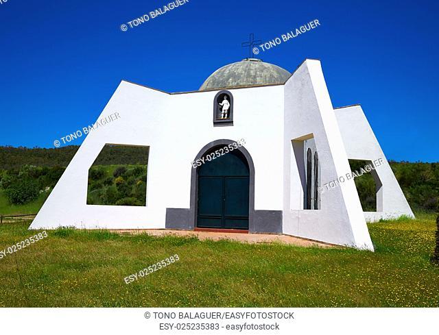 Pradera San Isidro church by Via de la Plata way in Extremadura spain