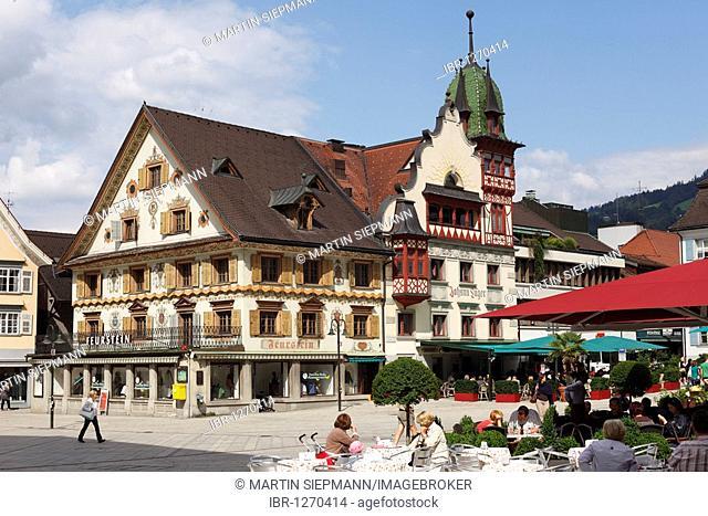 Luger House, Market Square, Dornbirn, Vorarlberg, Austria, Europe