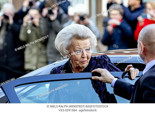 AMERSFOORT - Dutch Princess Beatrix arrives at the Queensday concert in Amsersfoort