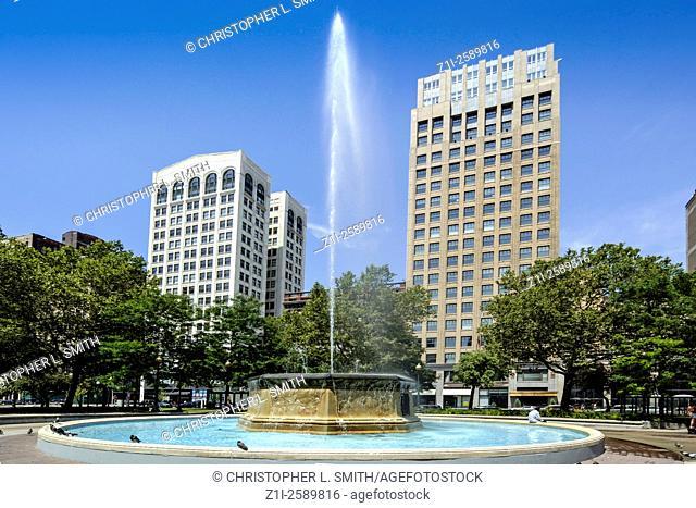 Fountain in Grand Circus Park, Detroit