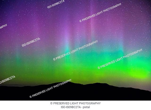 Northern lights, Nickel Plate Provincial Park, Penticton, British Columbia, Canada
