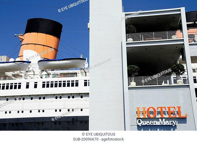 Queen Mary ship Hotel, Queens Bay, Long Beach