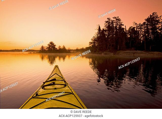 kayaking, French Lake, Quietico Provincial Park, Ontario, Canada