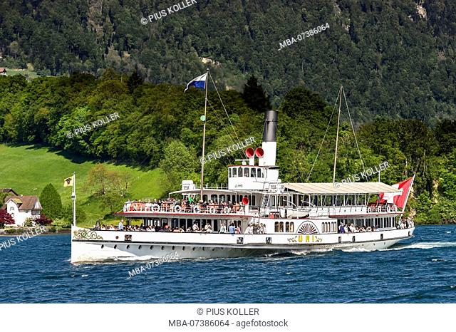 Steamship Uri at Lake Lucerne, Lucerne, Switzerland