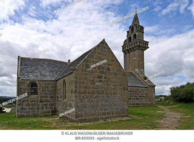 Chapel on the Ile Callot, Historical Monument, Bretagne, Brittany, France, Europe