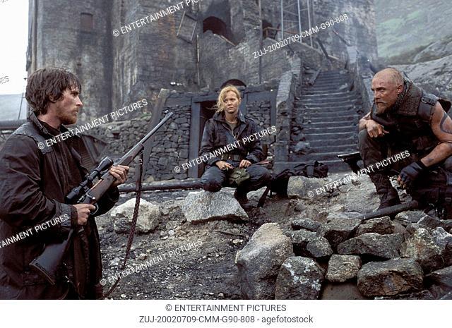 Jul 09, 2002; Hollywood, CA, USA; (left to right) CHRISTIAN BALE as Quinn Abercromby, IZABELLA SCORUPCO as Alex Jensen, and MATTHEW MCCONAUGHEY as Denton Van...