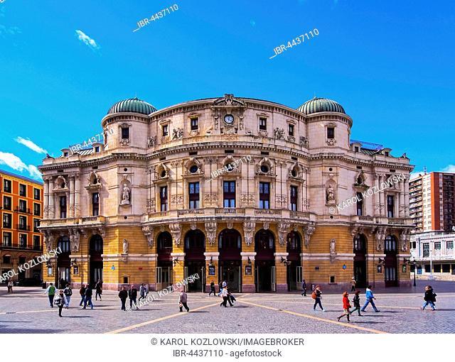 Teatro Arriaga, opera house, Plaza de Arriaga, Bilbao, Biscay, Basque Country, Spain