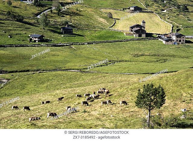 Trekking in the Vall d'Incles between Soldeu and El Tarter, Soldeu, Valira d'Orient, Pyrenees mountain, Andorra