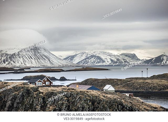 Icelandic typical house in Stykkishólmur, Snæfellsnes peninsula (region of Vesturland, Iceland)