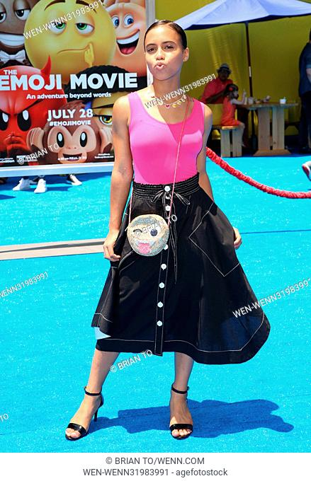 Celebrities attend The World Premiere of 'The Emoji Movie' at Regency Village Theatre in Westwood Featuring: Asia Monet Ray Where: Los Angeles, California