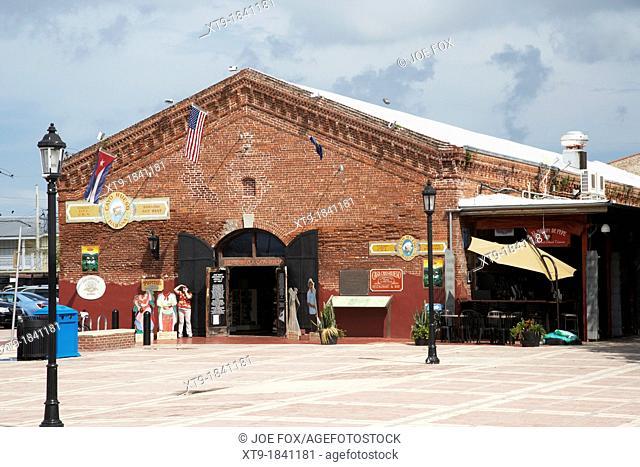 historic brick warehouse cayo hueso habana spanish key west cuban building florida usa