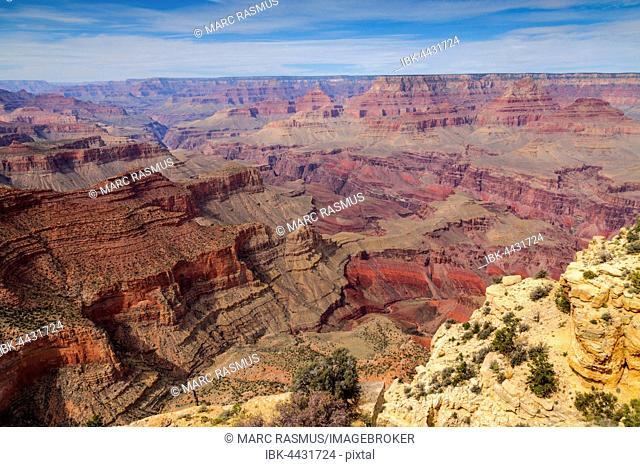 Landscape, panorama, rock, canyon, South Rim, Grand Canyon National Park, Arizona, USA