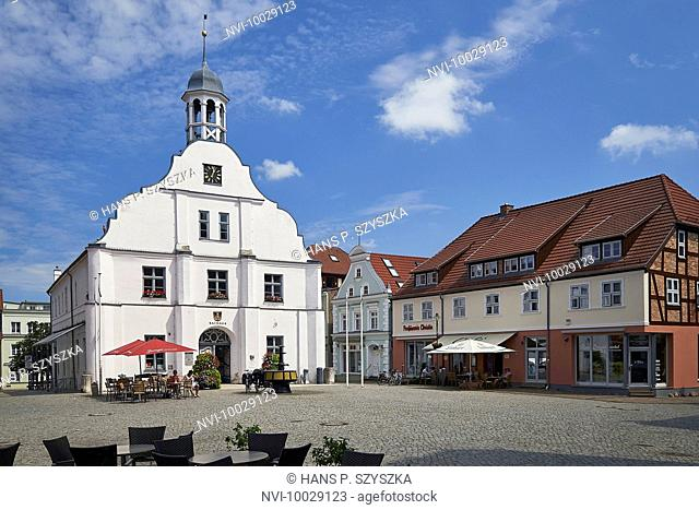 Old Town Hall in Wolgast, Mecklenburg Western Pomerania, Germany
