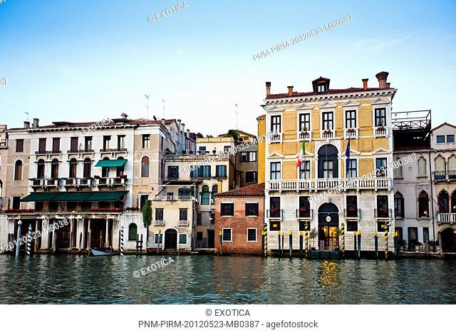 Buildings along a canal, Grand Canal, Venice, Veneto, Italy