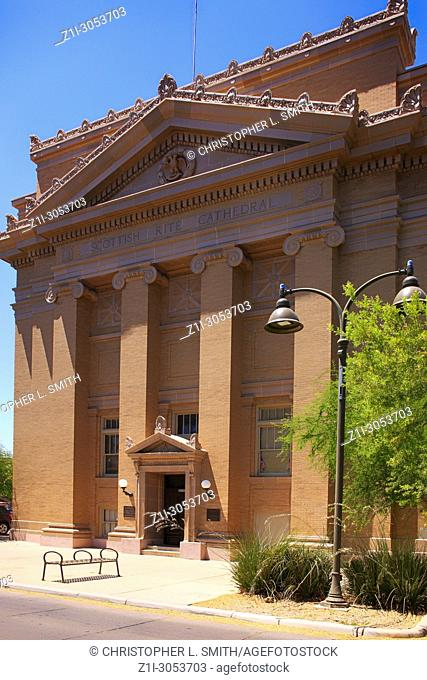 Historic Scottish Rite Cathedral on Scott Ave in Tucson, Arizona, USA