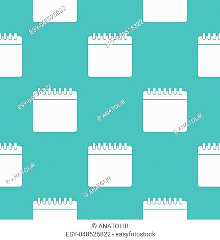 Calendar pattern seamless blue. Simple illustration of vector pattern seamless geometric repeat background