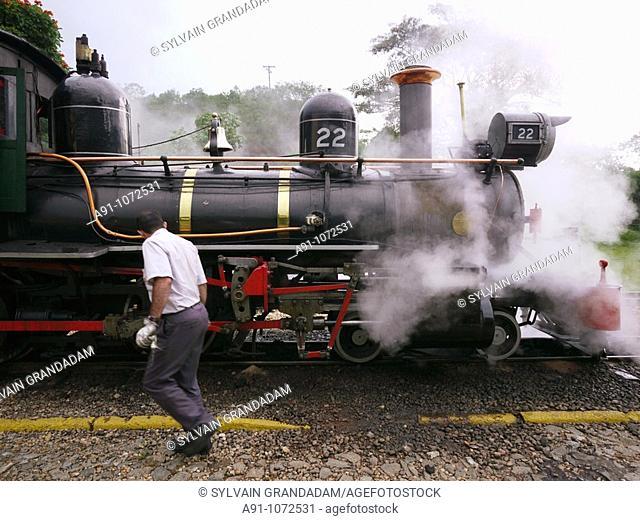 Brazil, Minas Gerais, historic city of Tiradentes, Part of the Estrada de Ferro Oeste de Minas West Minas Railway, created in 1878