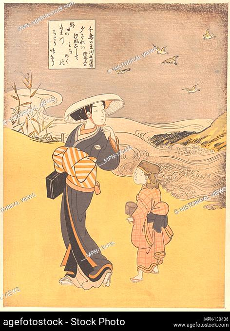 六玉川 「oƒé³¥ã®çŽ‰å·ã€€é™¸å¥¥åæ‰€ã€. Artist: Suzuki Harunobu (Japanese, 1725-1770); Period: Edo period (1615-1868); Date: probably 1766; Culture:...