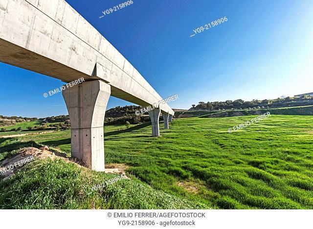 Channel for irrigation Segarra Garrigues. LLeida. Spain