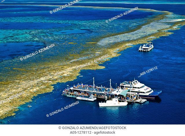 Fantasea. Tourist boat. Great Barrier Reef . Queensland . Australia