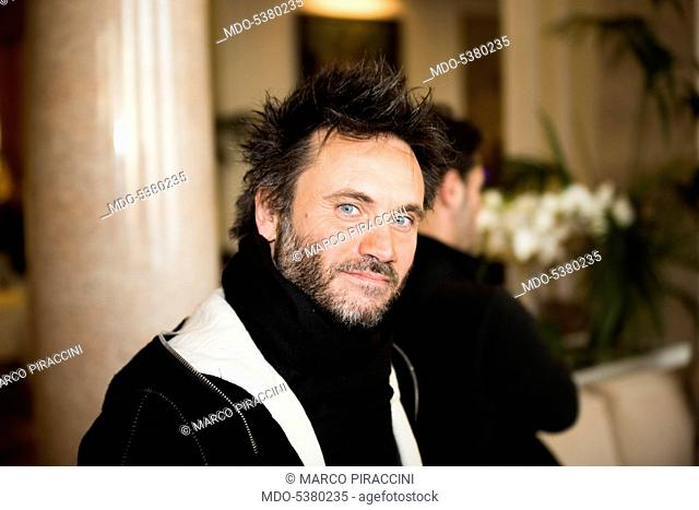 The singer-songwriter Nek (Filippo Neviani) at the 65th Sanremo Music Festival. Sanremo, Italy. 2015