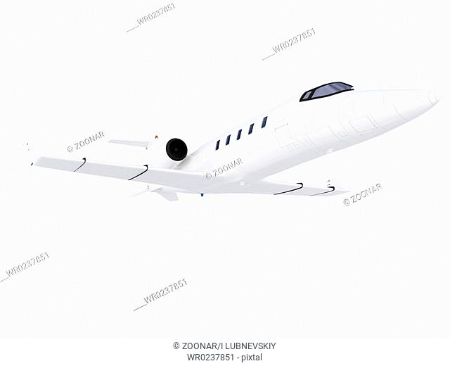 isolated jet airplane on a white background
