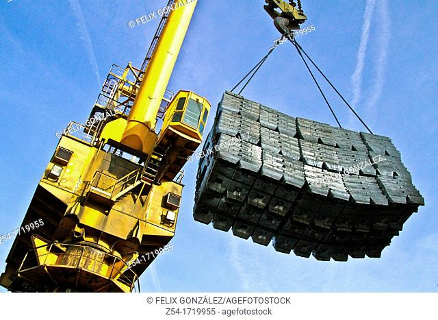Zinc cargo at Aviles, Harbour, Asturias, Spain