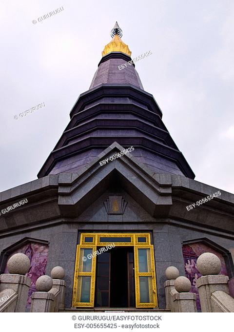 Phra Mahathat Napapolphumisiri temple on Doi Intanon mountain, Chiang Mai, Thailand