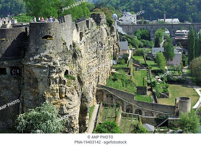 Casemates the Bock, Bockfiels, Luxemburg, Luxemburg, Luxembourg, Europe