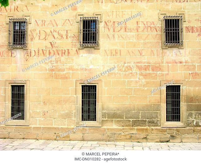 Spain, Andalusia, Baeza, facade