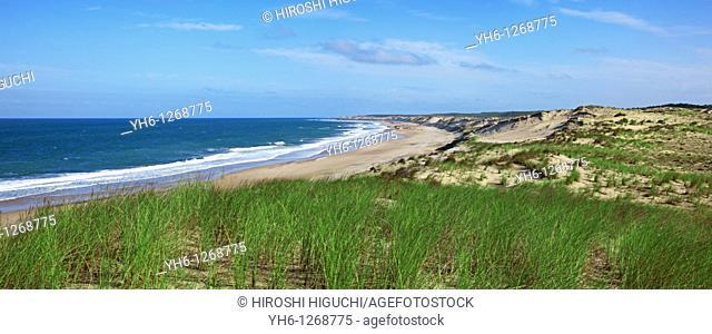 France, Gironde, Atlantic Ocean at Montalivet-les-Bais, west coast