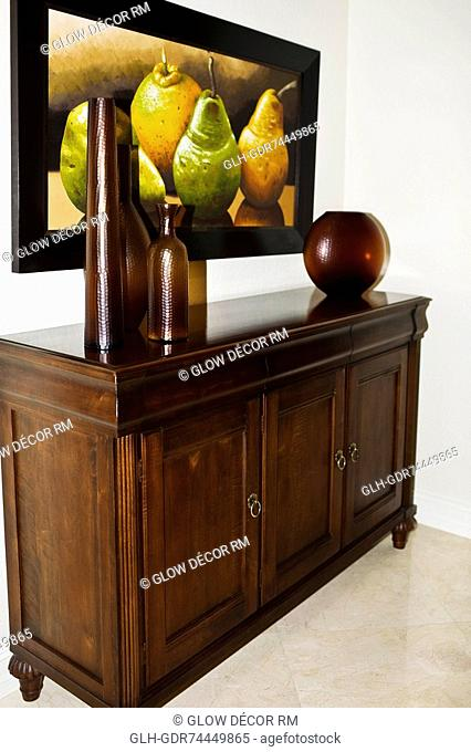 Showpieces on a sideboard