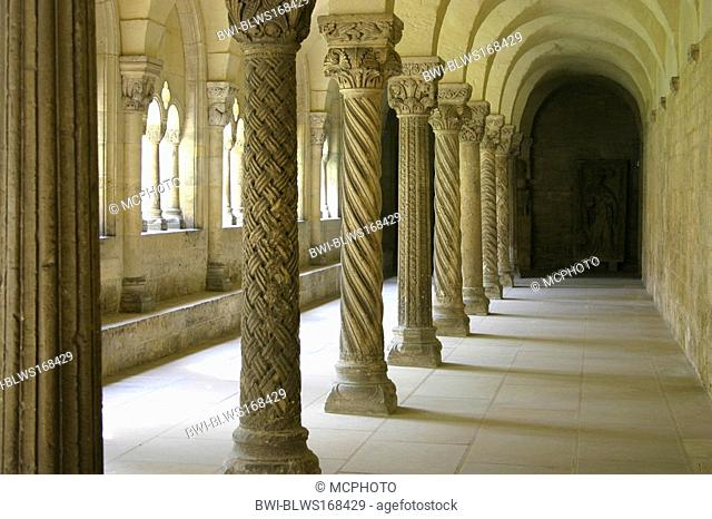 cloister at Kaiserdom Koenigslutter, Imperator Cathedral, Germany, Lower Saxony