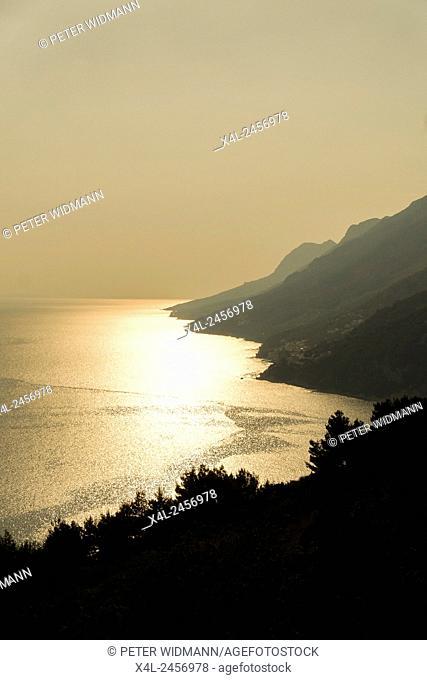 Coastal road, Brela, Dalmatia, Croatia