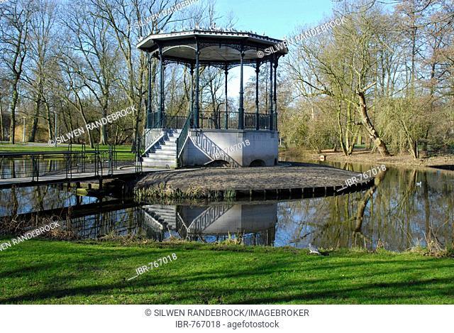 Pavilion, gazebo in Vondelpark, Amsterdam, Netherlands